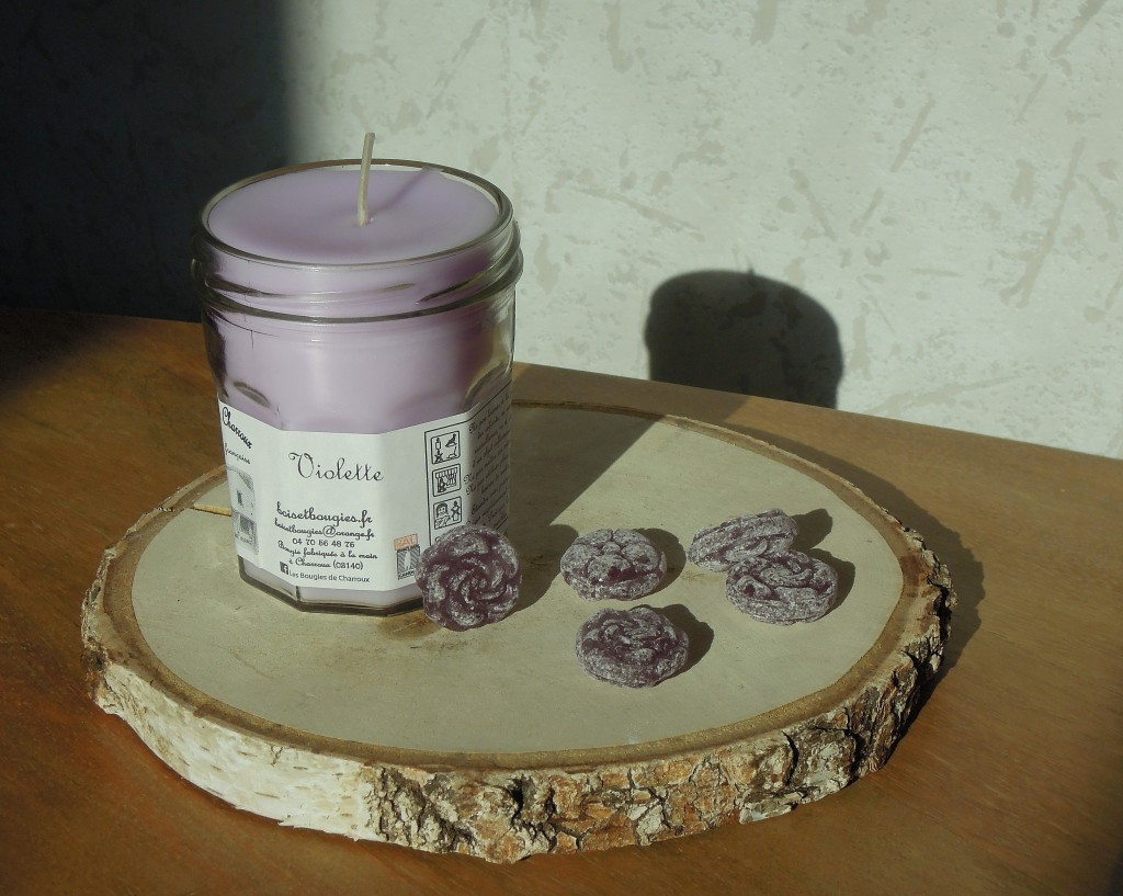 les bougies de Charroux violette mesideesnaturelles
