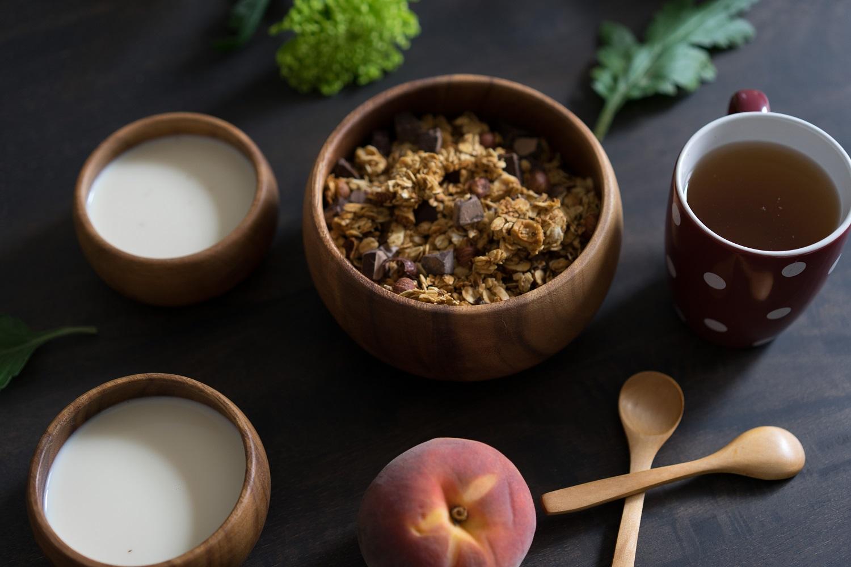 granolat maison et bio au chocolat, recette healthy
