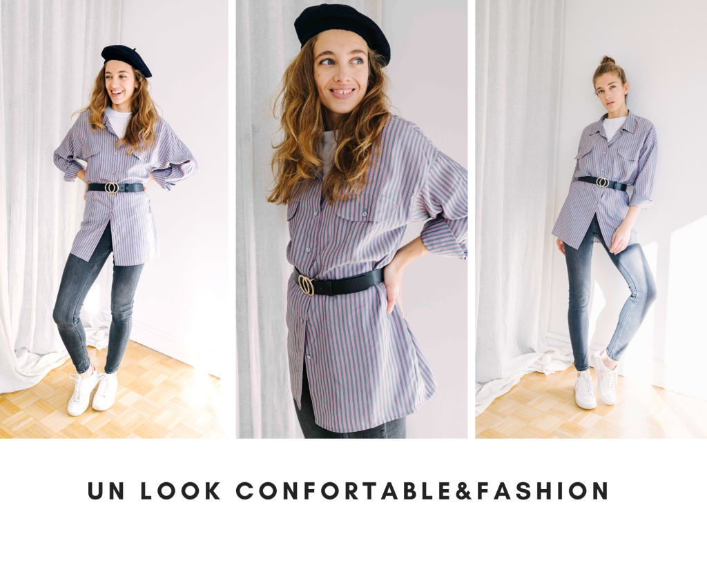 mes idees naturelles chemise oversize look confortable, stylé, fashion, garde robe minimaliste