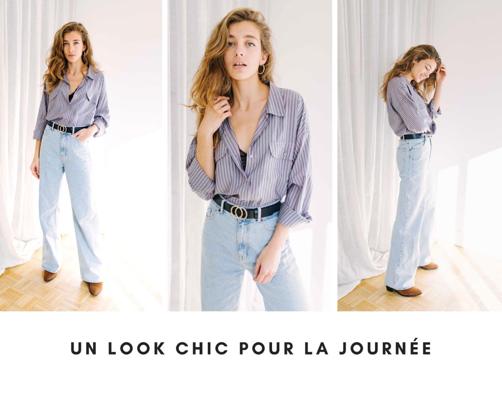 mes idees naturelles chemise oversize look confortable, stylé, tenue chic, garde robe minimaliste